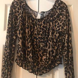 H&M Leopard Blouse size S